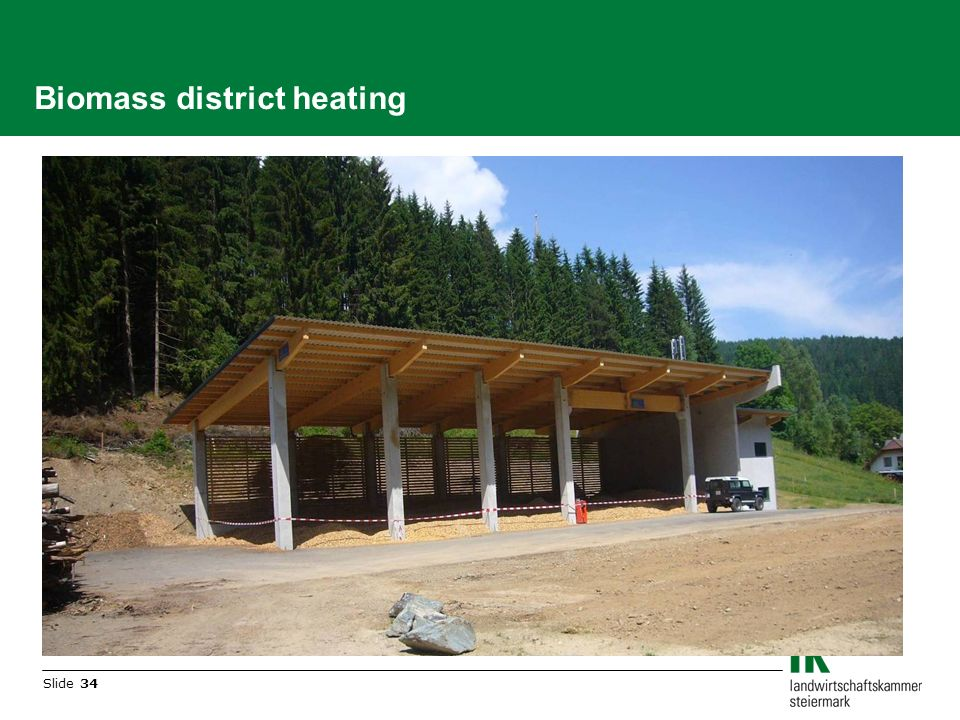 Slide 34 Biomass district heating