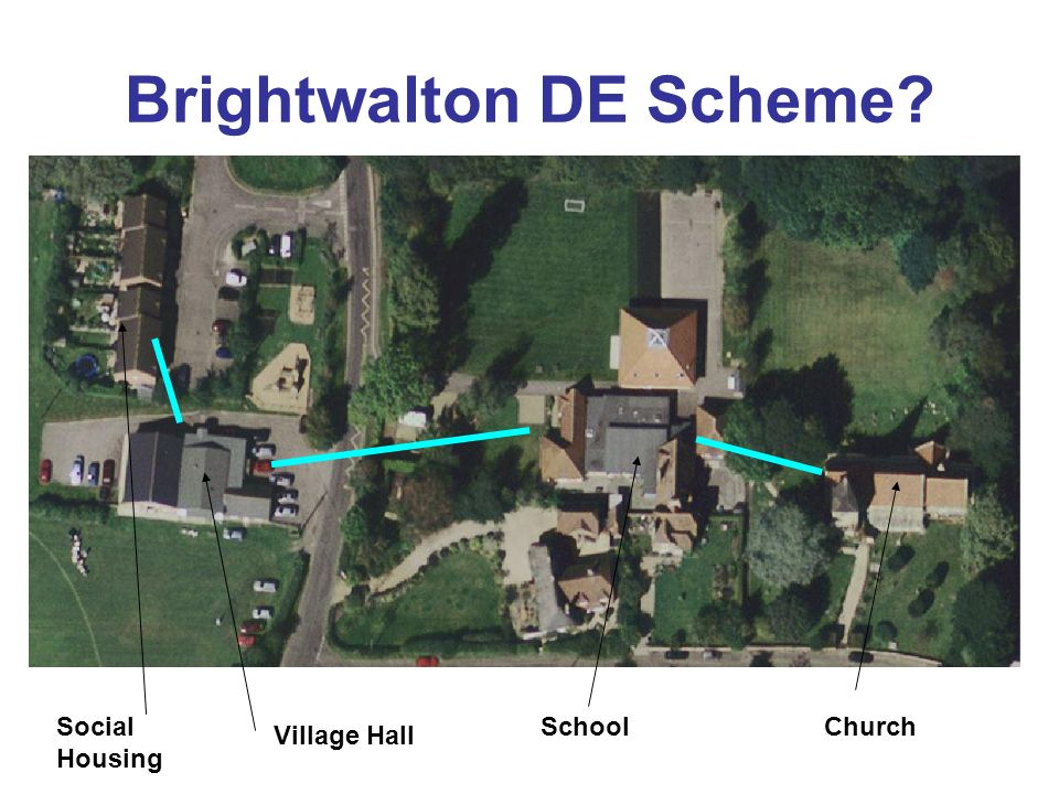 Brightwalton DE Scheme? SchoolSocial Housing Village Hall Church