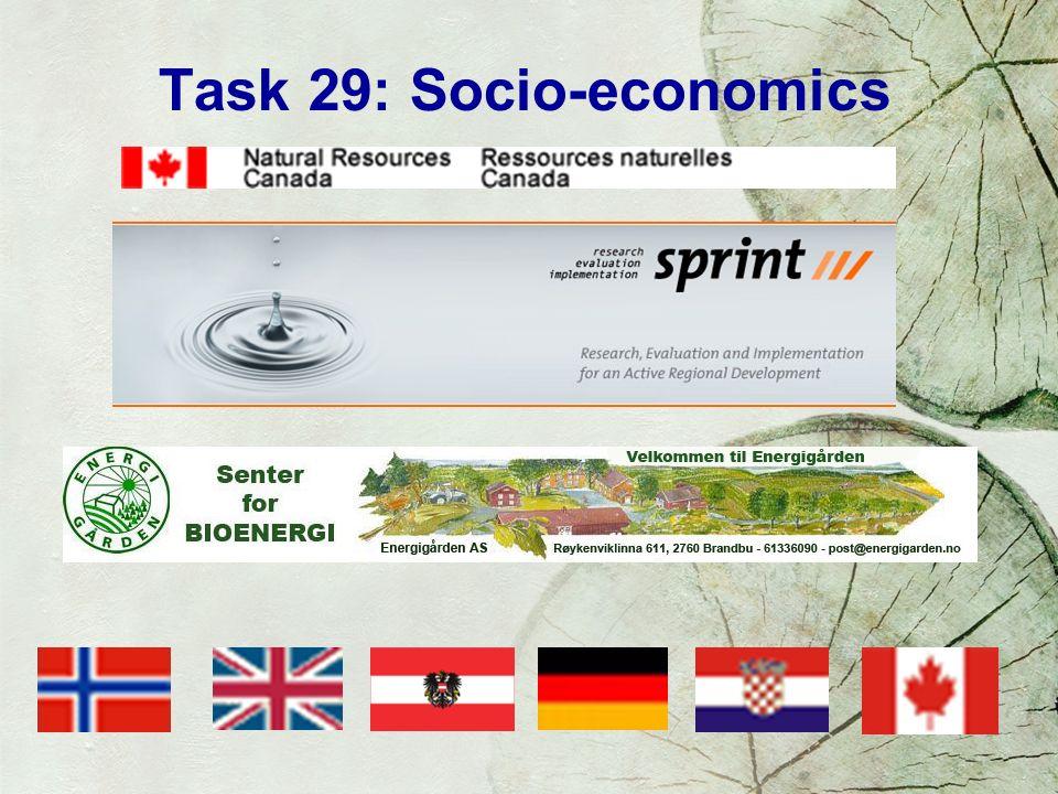 Task 29: Socio-economics