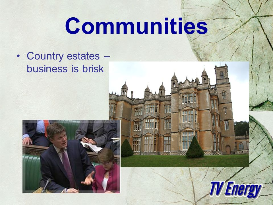 Communities Country estates – business is brisk