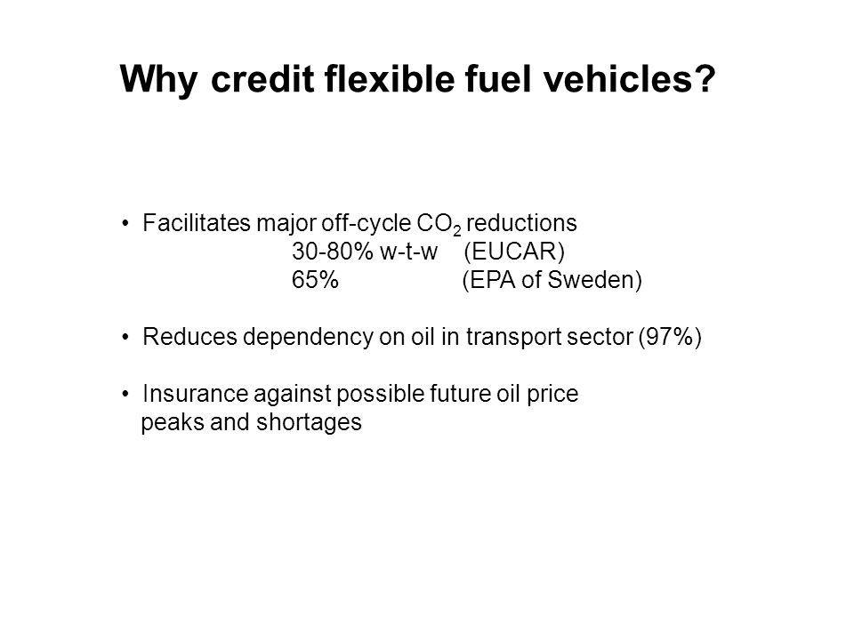 Why credit flexible fuel vehicles.
