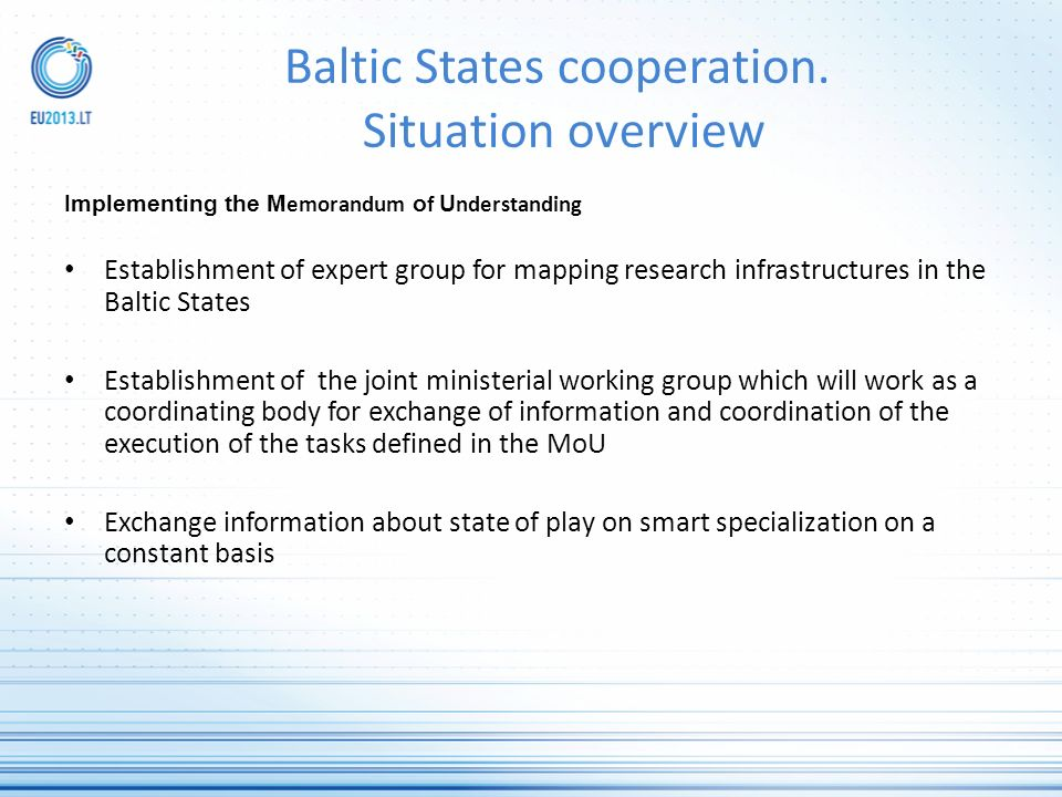 Baltic States cooperation.