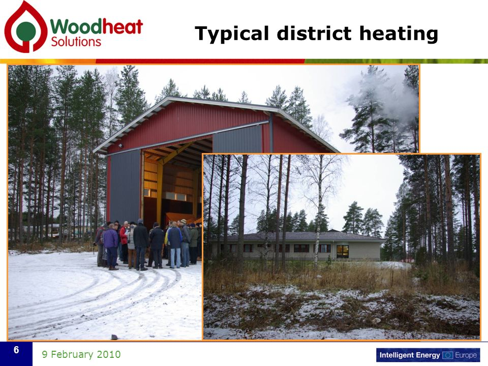 9 February Typical district heating
