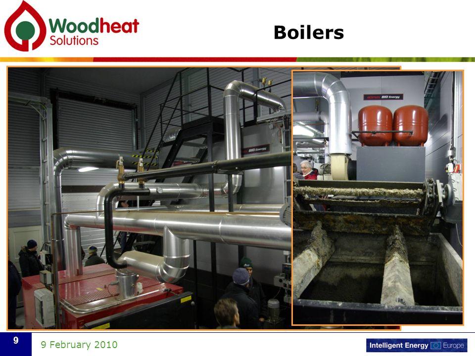 9 February 2010 9 Boilers