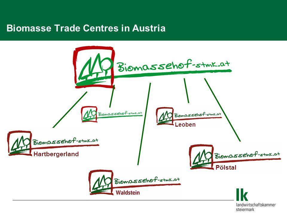 Biomasse Trade Centres in Austria Hartbergerland Leoben Pölstal