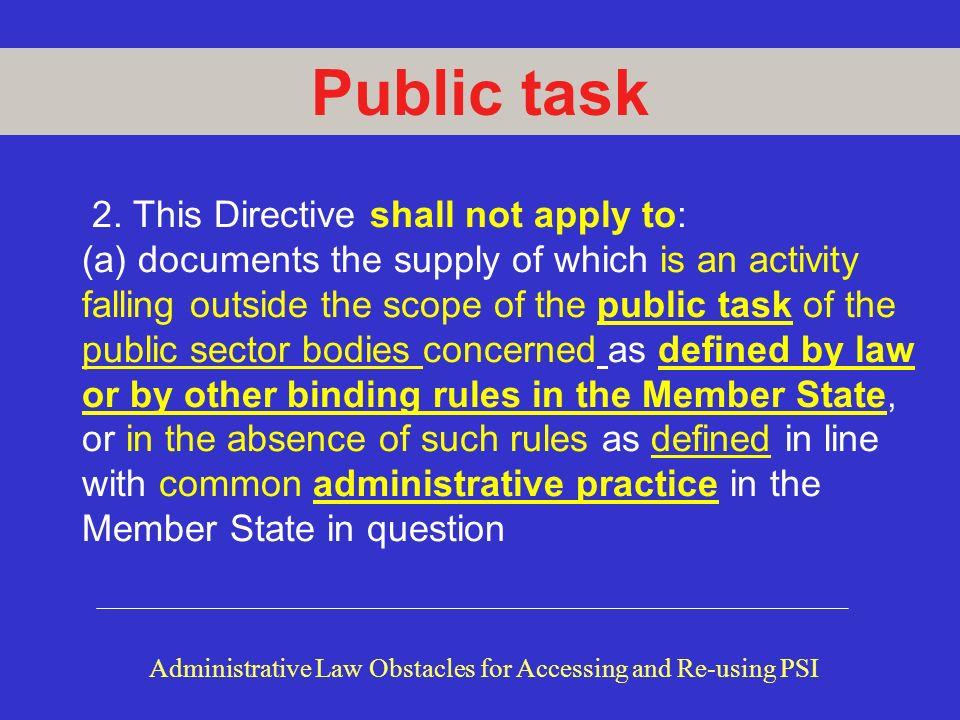 Public task 2.