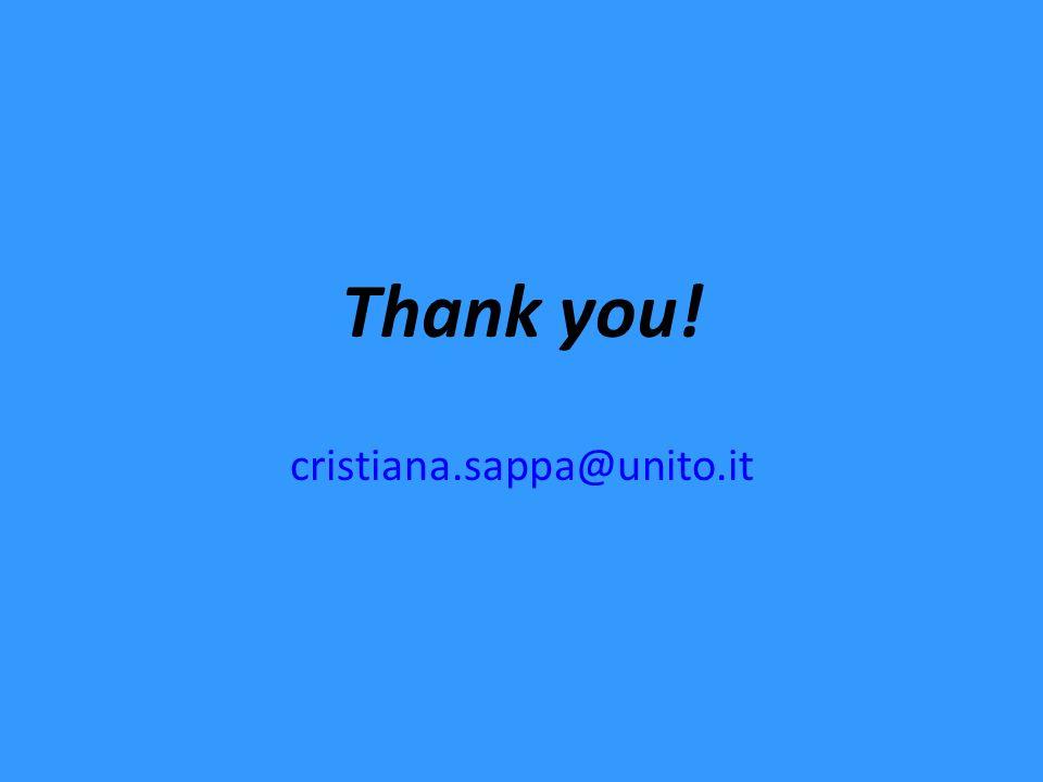 Thank you! cristiana.sappa@unito.it