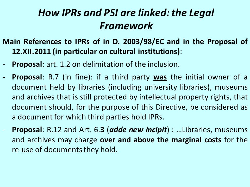 I.Are there IPRs on Official Acts.