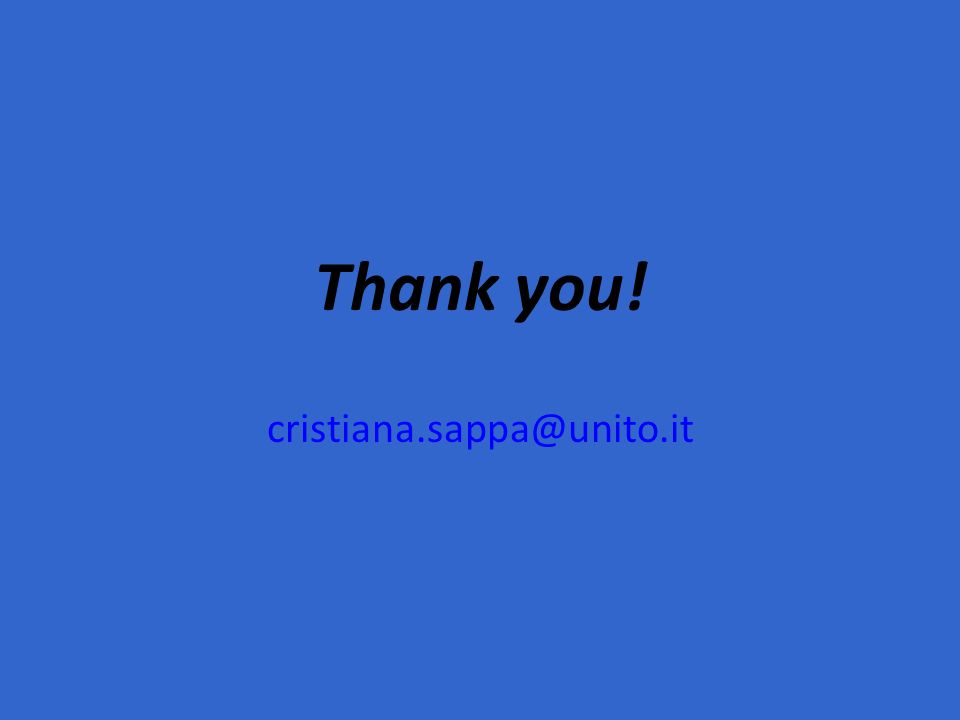 Thank you! cristiana.sappa@unito.it