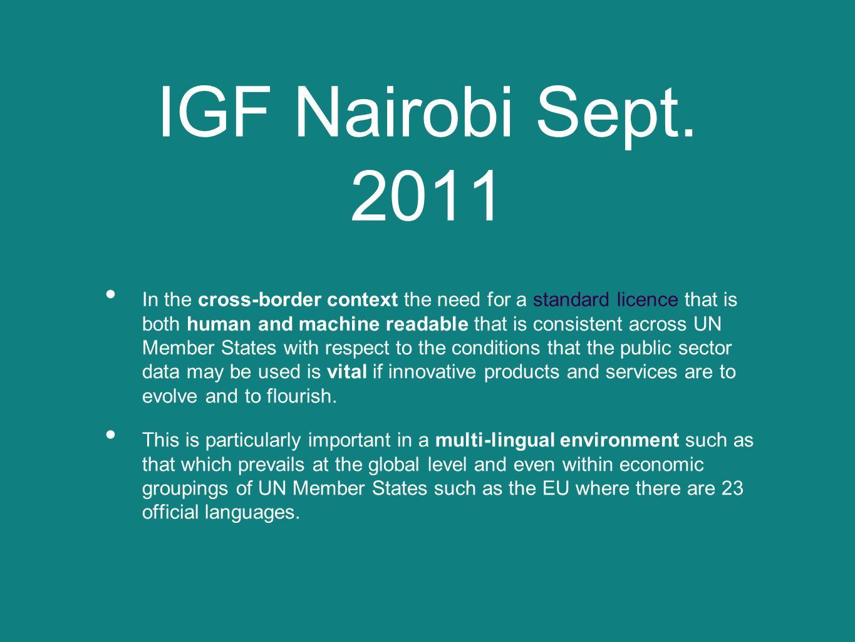 IGF Nairobi Sept.