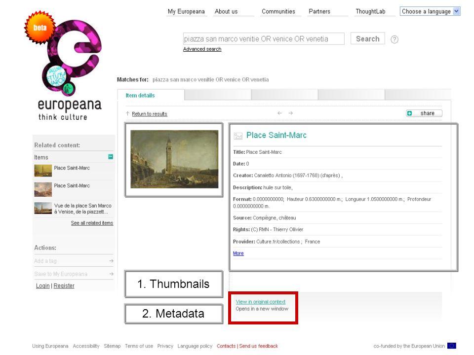Thorsten Siegmann – Institute for Museum Research SMB-PK 16 1. Thumbnails 2. Metadata