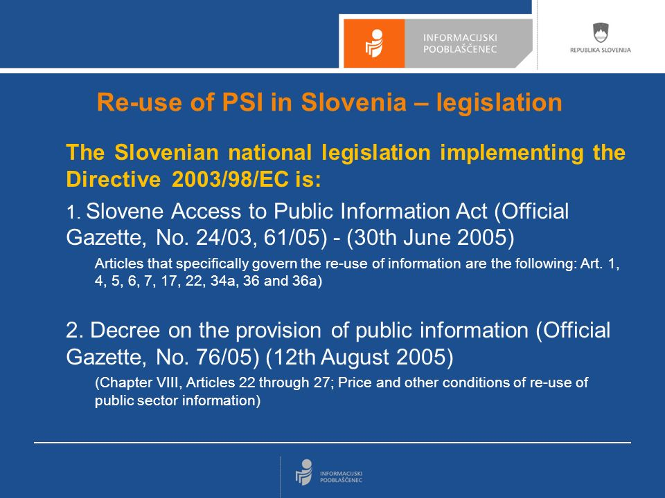 3 Is there a centralised public body, dealing with PSI.