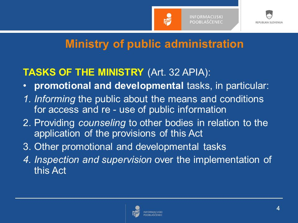 Information Commissioner competences an independent body PSI and DPA competences PSI access and re-use competences certain inspection and misdemeanor procedure competences