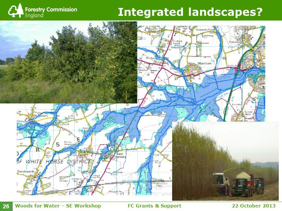 Woods for Water – SE WorkshopFC Grants & Support 22 October 2013 26 Integrated landscapes?