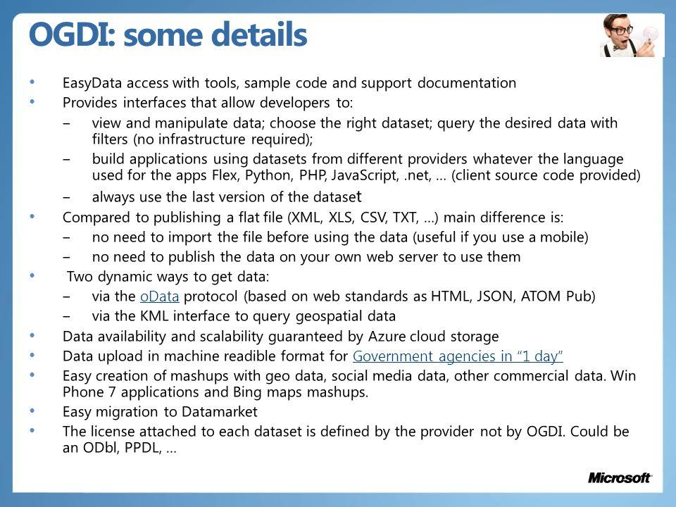 OGDI: some details