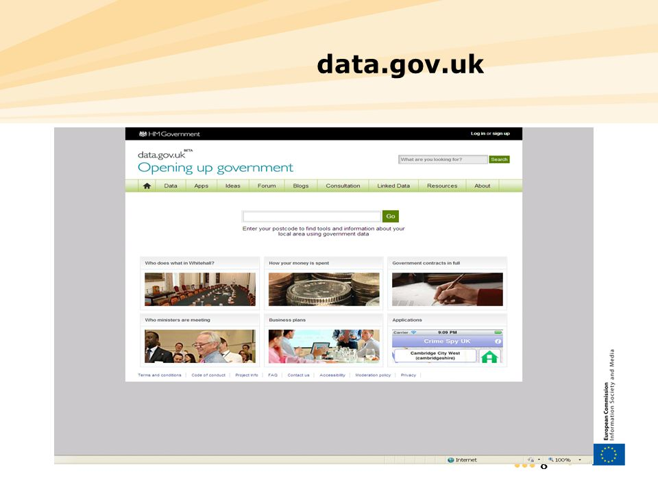 8 data.gov.uk