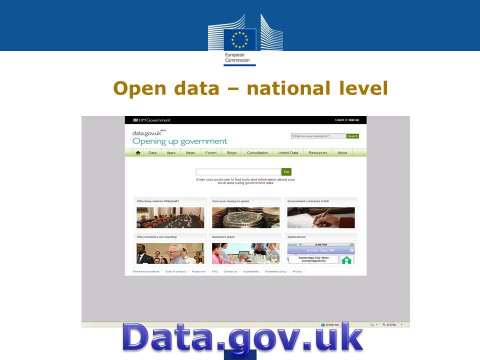 Open data – local level