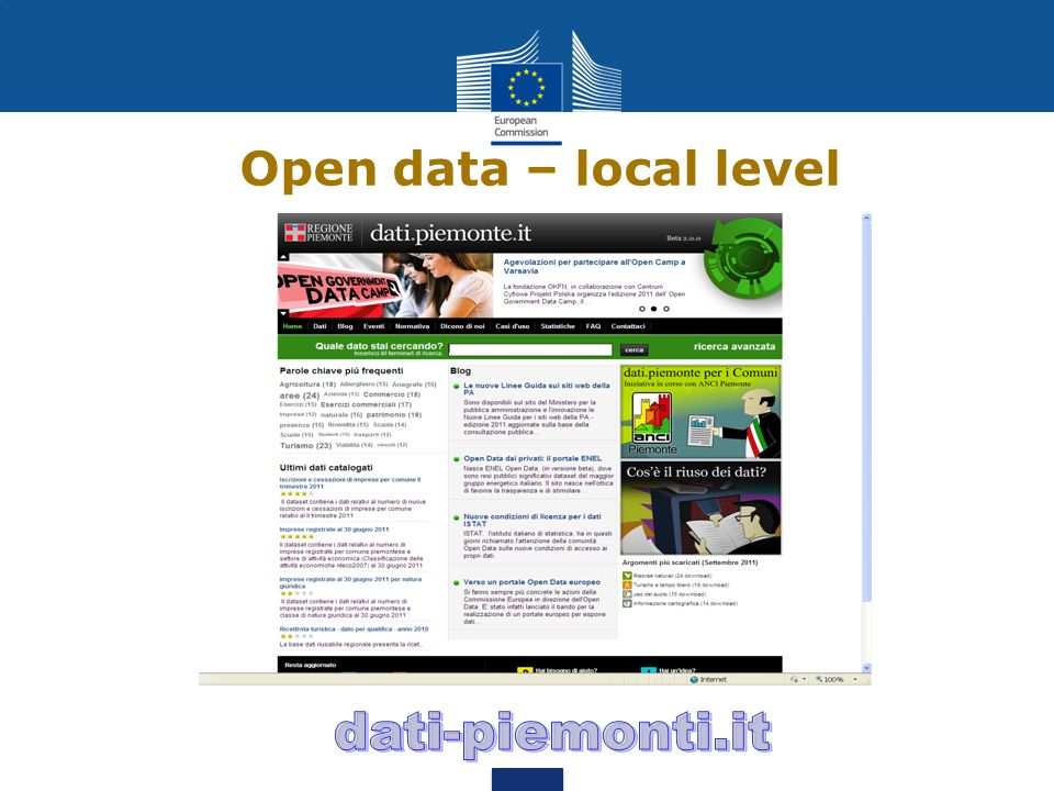 Open data – local level