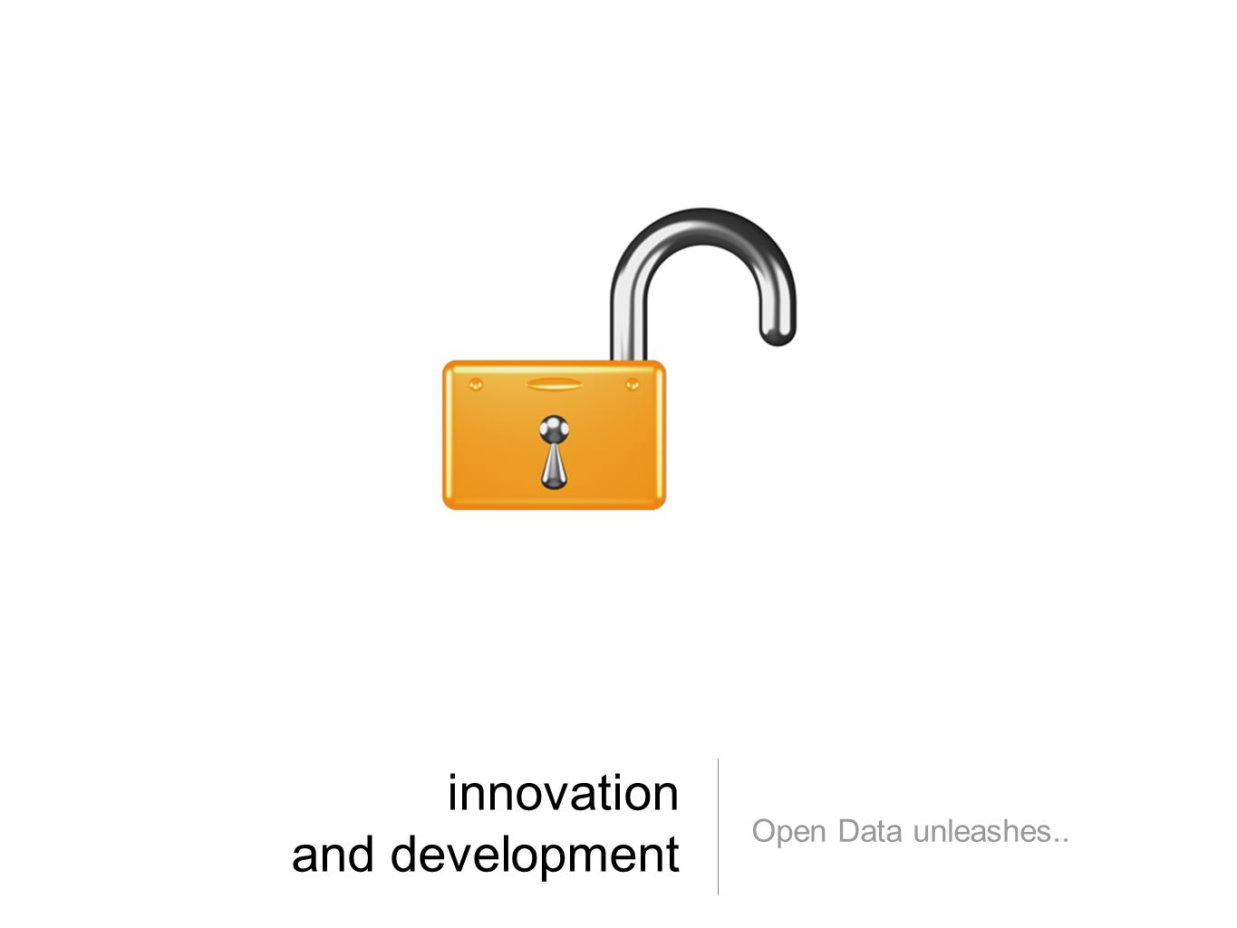 innovation and development Open Data unleashes..
