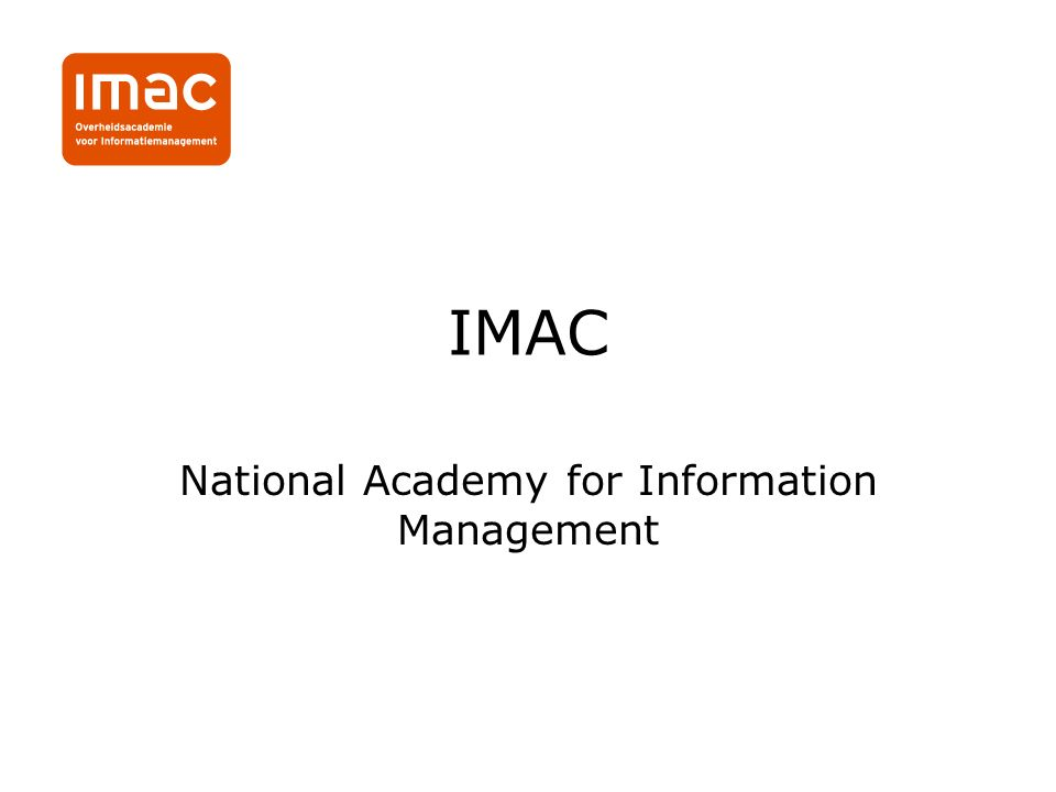 IMAC National Academy for Information Management