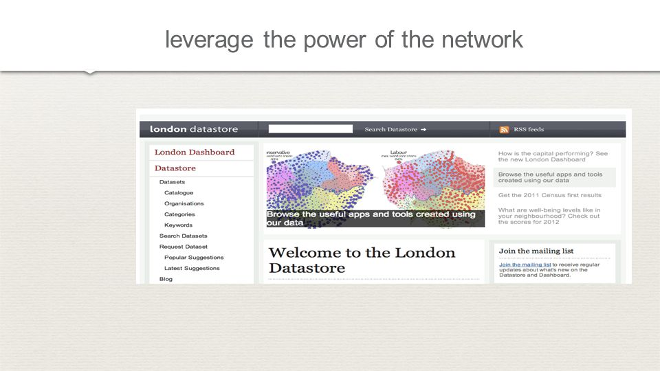 leverage the power of the network