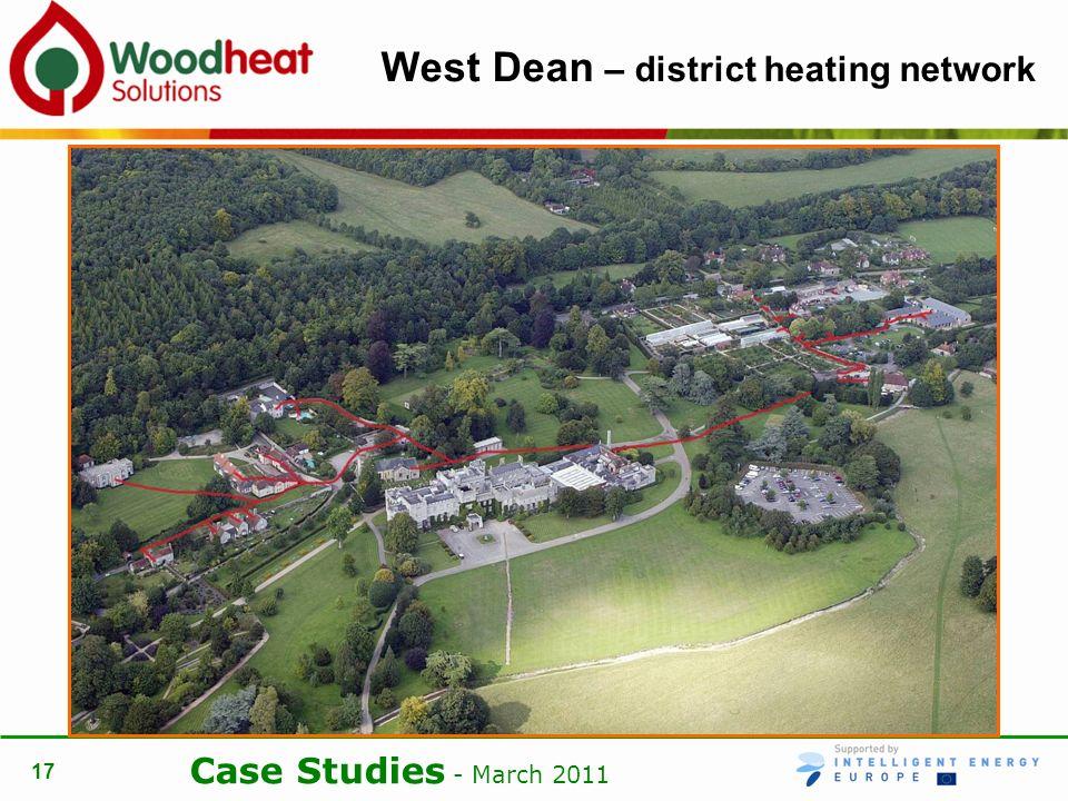 Case Studies - March 2011 17 West Dean – district heating network