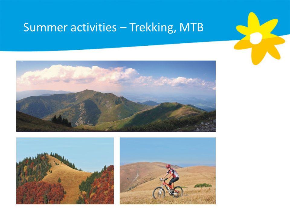 Summer activities – Trekking, MTB