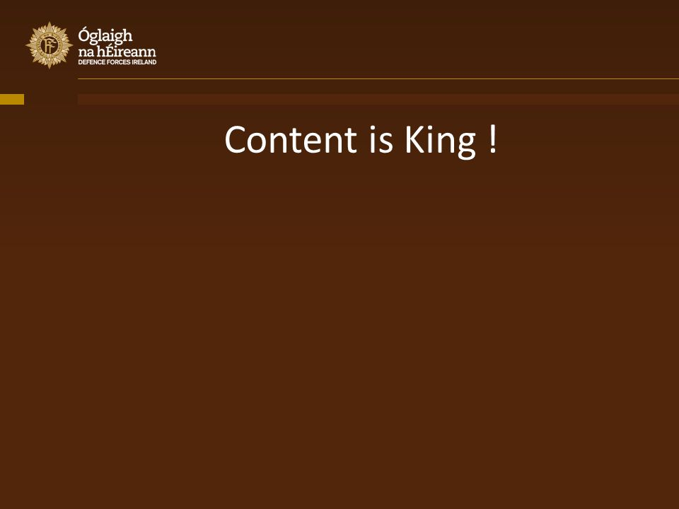 Content is King !