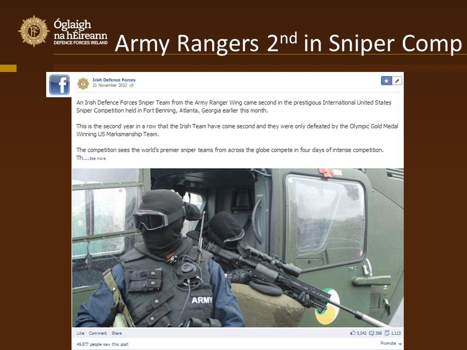 Army Rangers 2 nd in Sniper Comp
