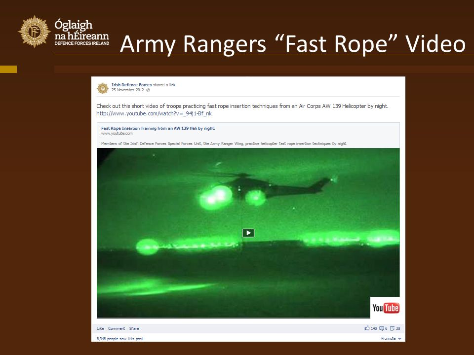 Army Rangers Fast Rope Video