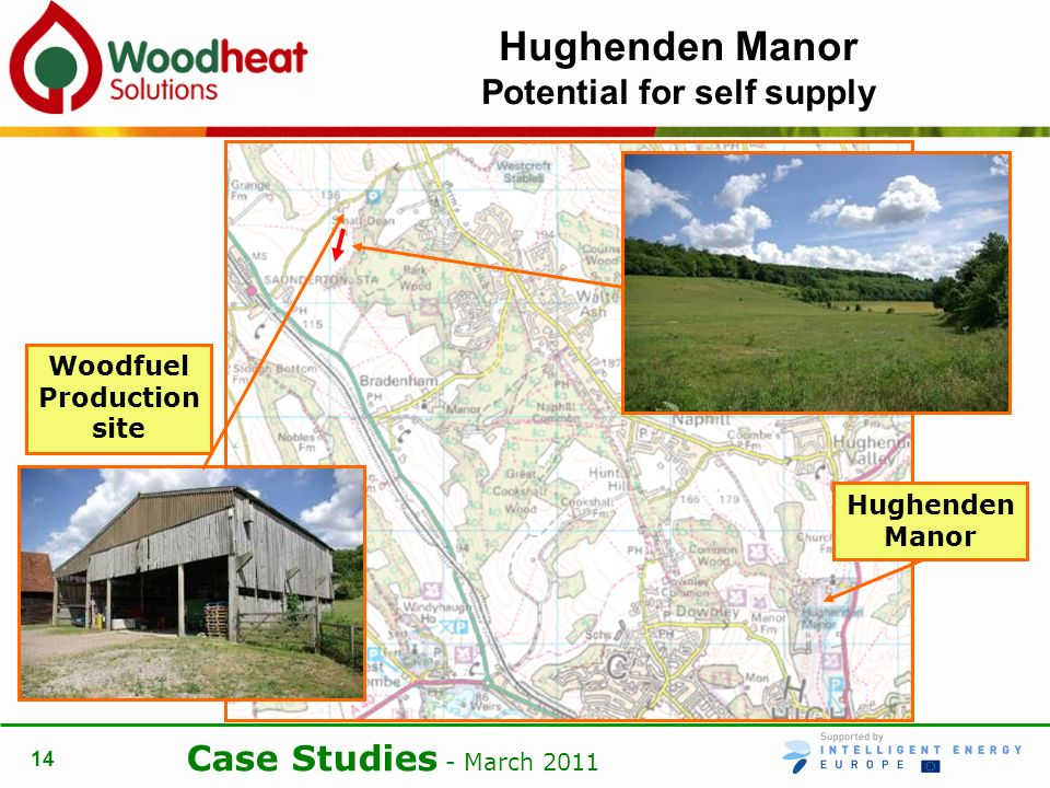 Case Studies - March 2011 14 Hughenden Manor Potential for self supply Hughenden Manor Woodfuel Production site