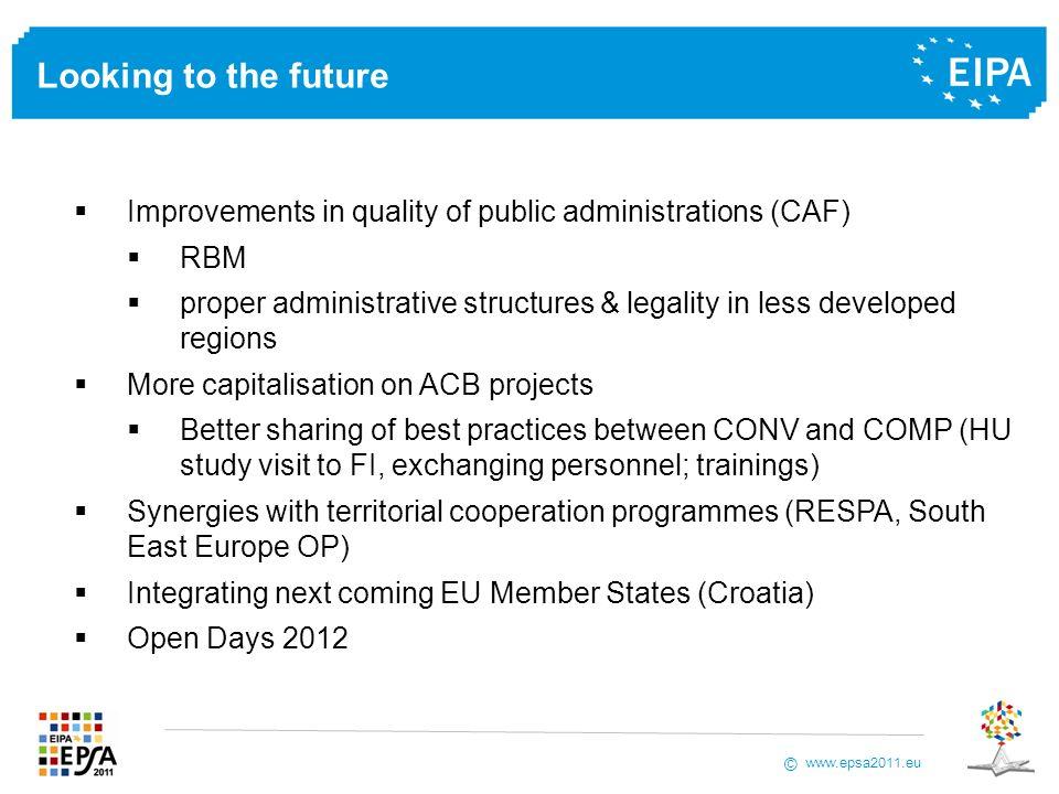 www.epsa2011.eu © Marco Lopriore Senior Lecturer, EIPA Tel: +31 (0)43 32 96 316 E-mail: m.lopriore@eipa.eu Thank you for your attention