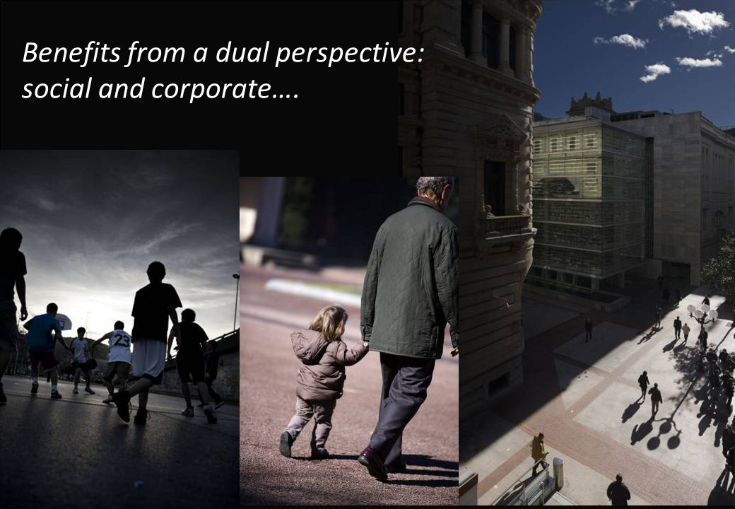 Benefits from a dual perspective: social and corporate….