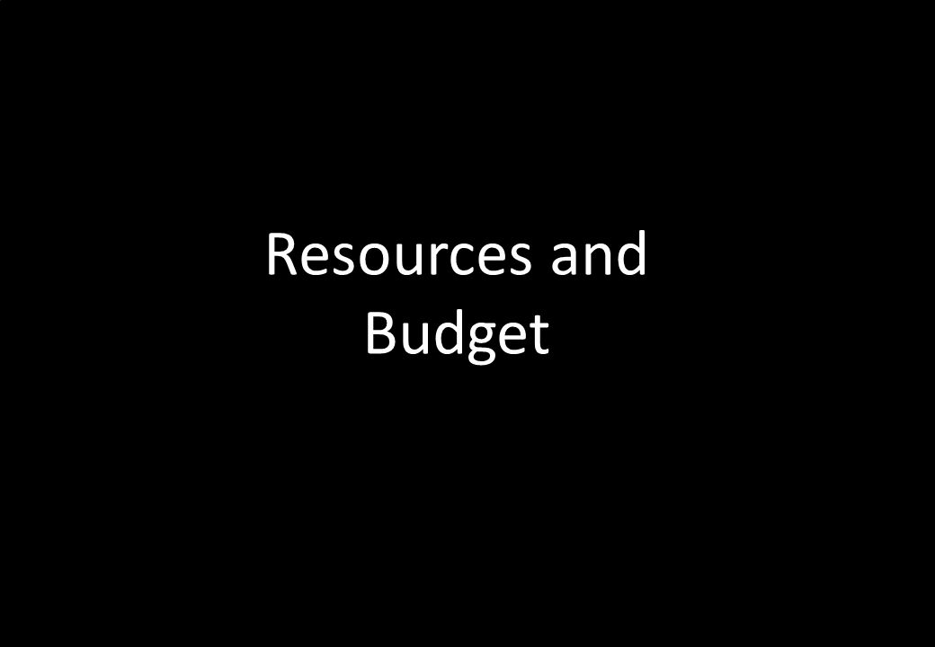 Resources and Budget
