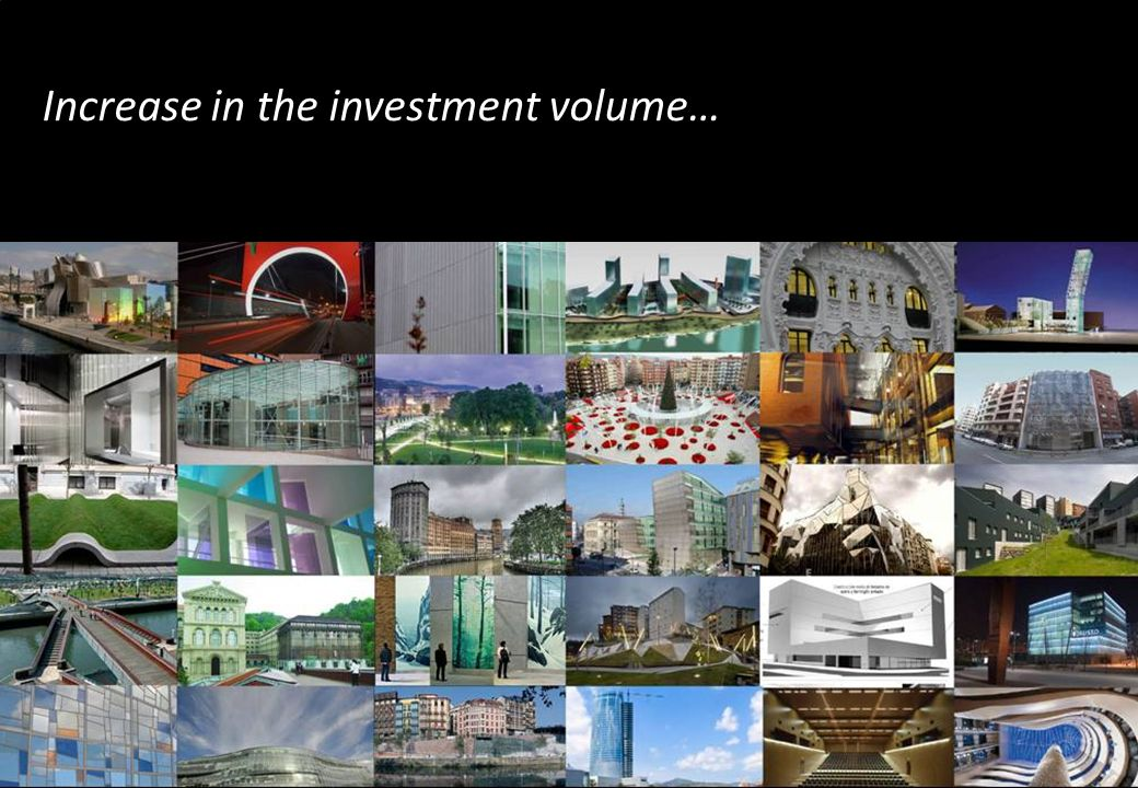 Increase in the investment volume…
