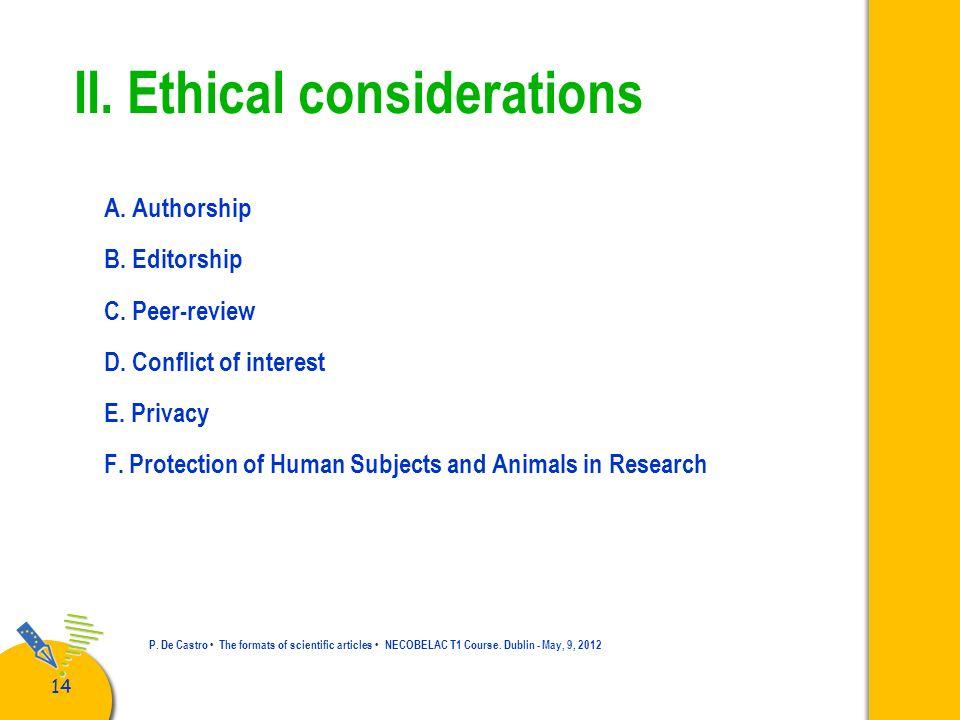 15 P.De Castro The formats of scientific articles NECOBELAC T1 Course.