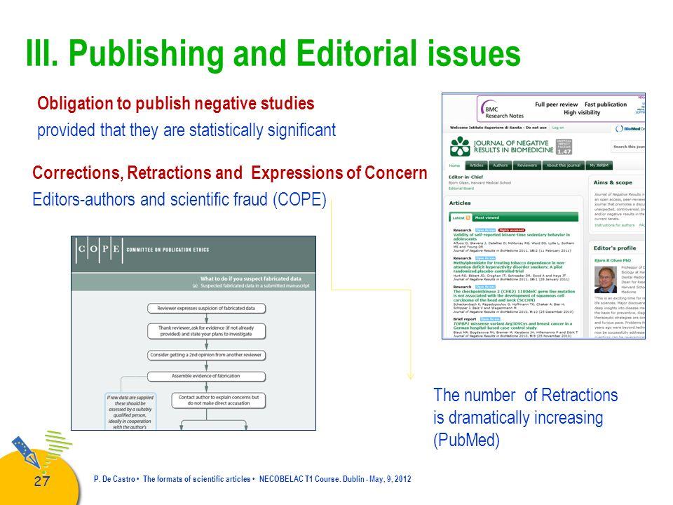 28 P.De Castro The formats of scientific articles NECOBELAC T1 Course.