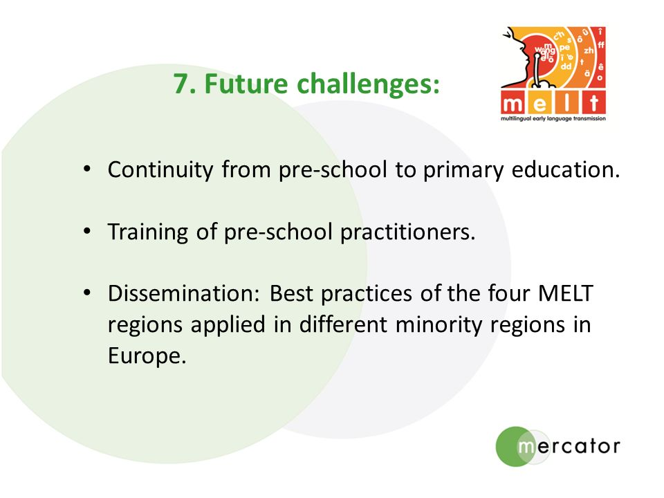 Continuity from pre-school to primary education. Training of pre-school practitioners.