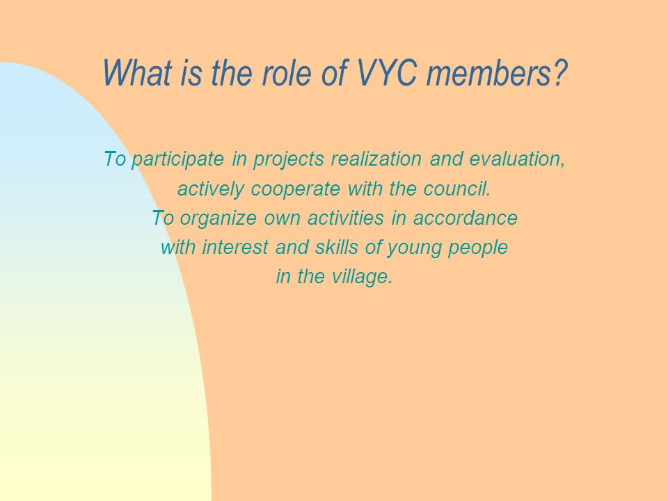 What is the role of VYC members.