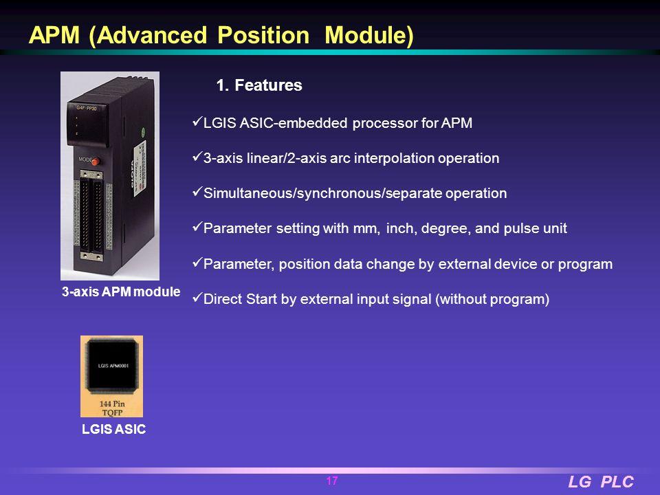 LG PLC 16 LG PLC LG Industrial Systems APM Advanced Position Module