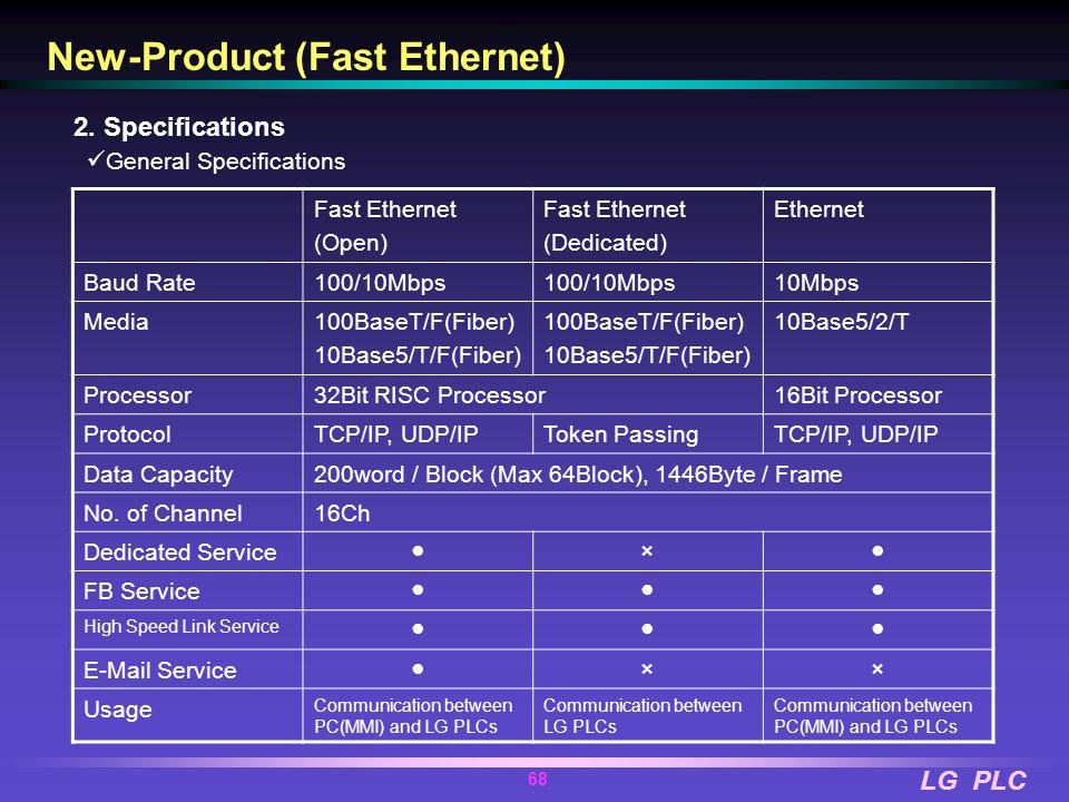 LG PLC 67 100/10Mbps Fast Ethernet for Industrial systems. 100BaseT, 100BaseF(Fiber Optic), 10BaseT, 10BaseF(Fiber Optic) Support 2 type Ethernet - Op