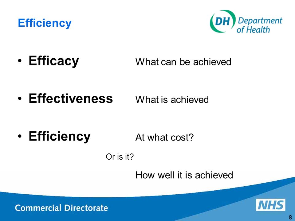 9 Is Efficiency Enough.