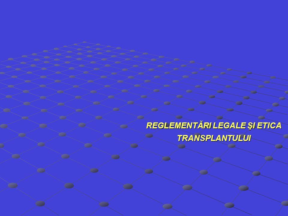 REGLEMENTĂRI LEGALE ŞI ETICA TRANSPLANTULUI