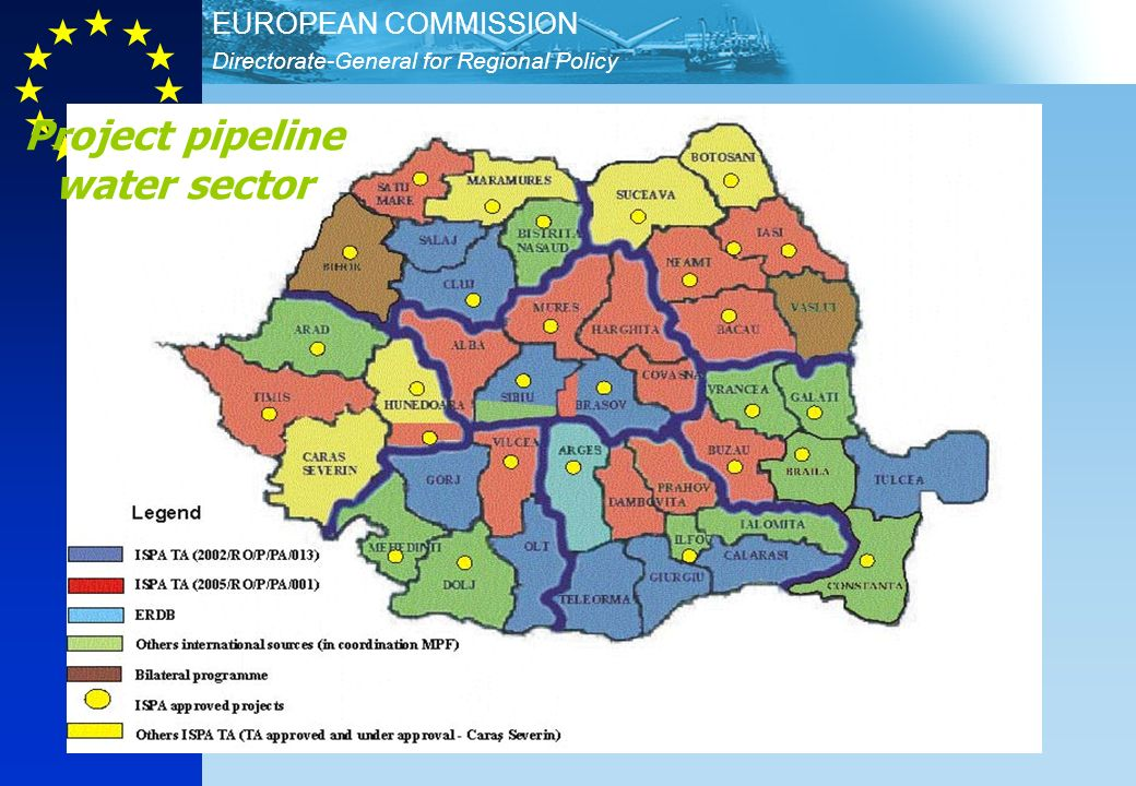 Directorate-General for Regional Policy EUROPEAN COMMISSION 18 Project pipeline water sector
