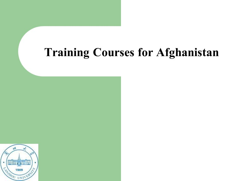 Training Courses for Afghanistan