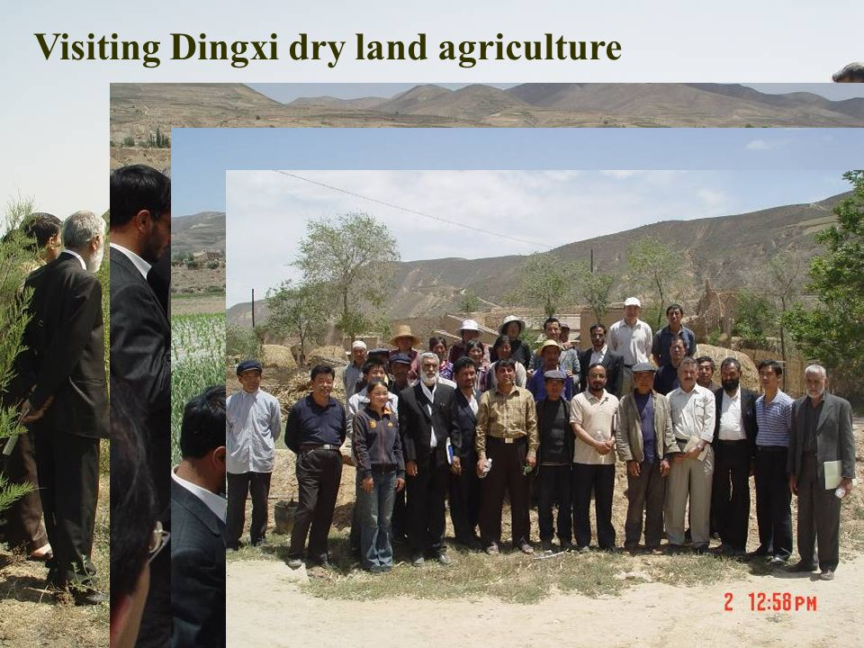 Visiting Dingxi dry land agriculture
