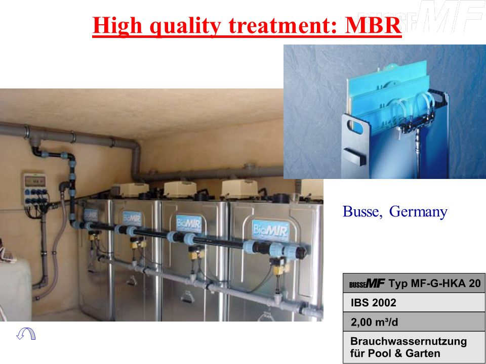 High quality treatment: MBR Busse, Germany
