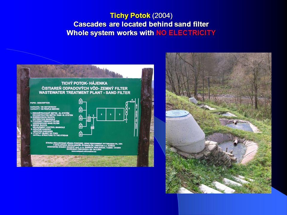 Tichy Potok: 150 EO Reconstruction of 2 septic tanks + underground sand filter, 3 water cascades