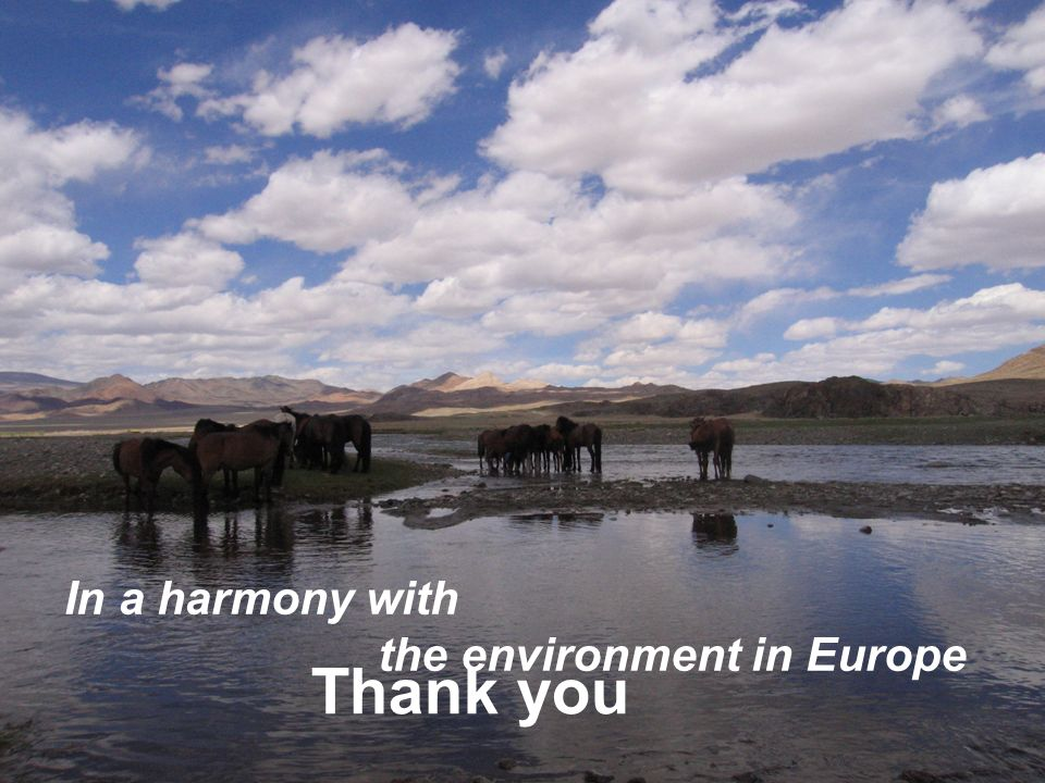 11 Thank you In a harmony with the environment in Europe