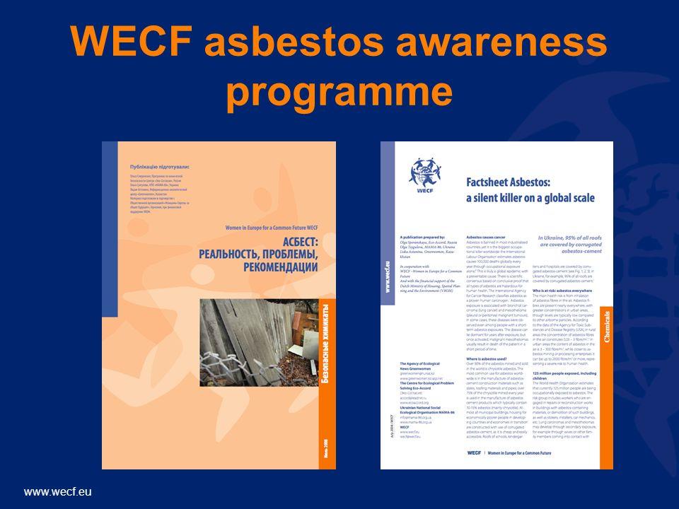 www.wecf.eu WECF asbestos awareness programme